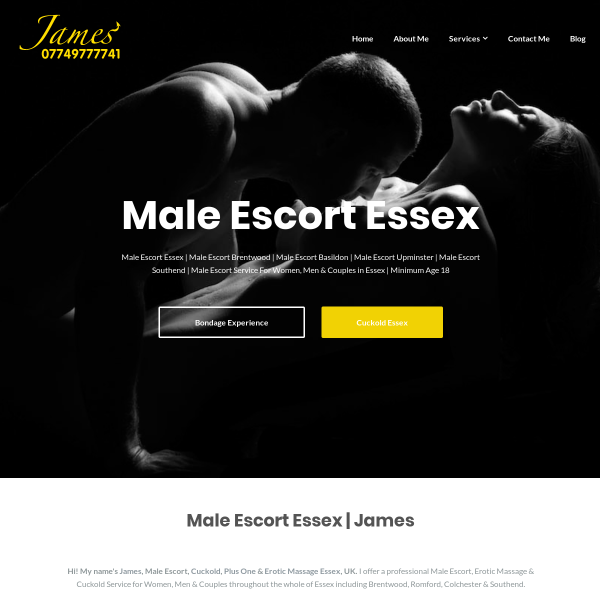 Details : Male Escort Essex