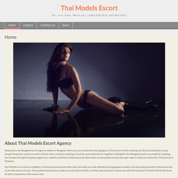 Details : Thai Models Escort Agency in Bangkok