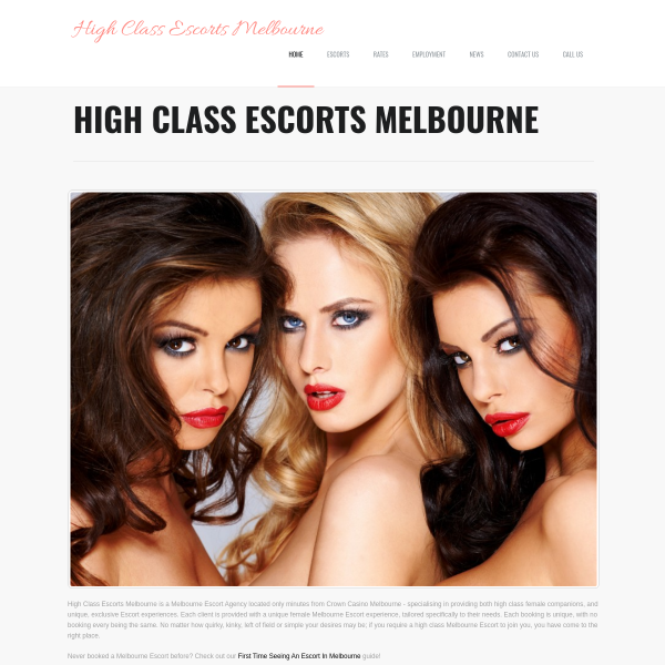 Details : High Class Melbourne Escorts